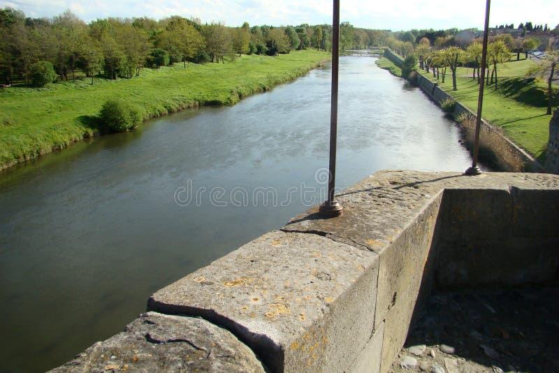 Rivière de l'Aude dans les Frances photographie stock libre de droits