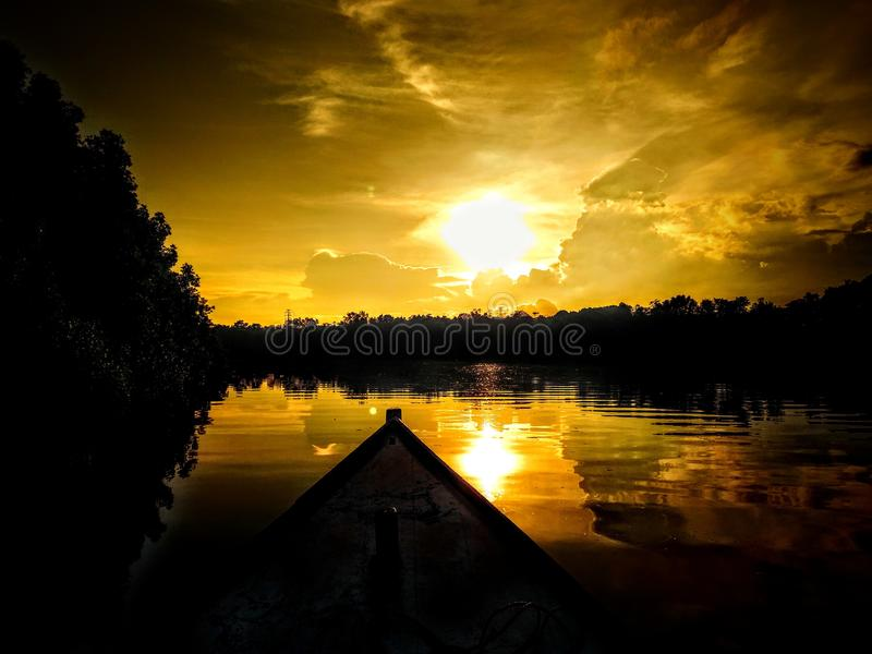 Rivière de Manggar image libre de droits
