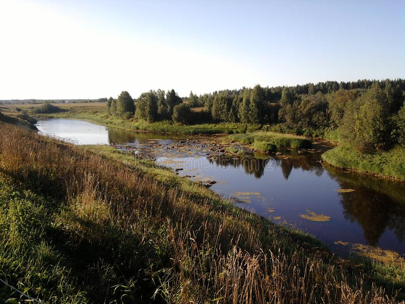 Rivière de matin photos stock