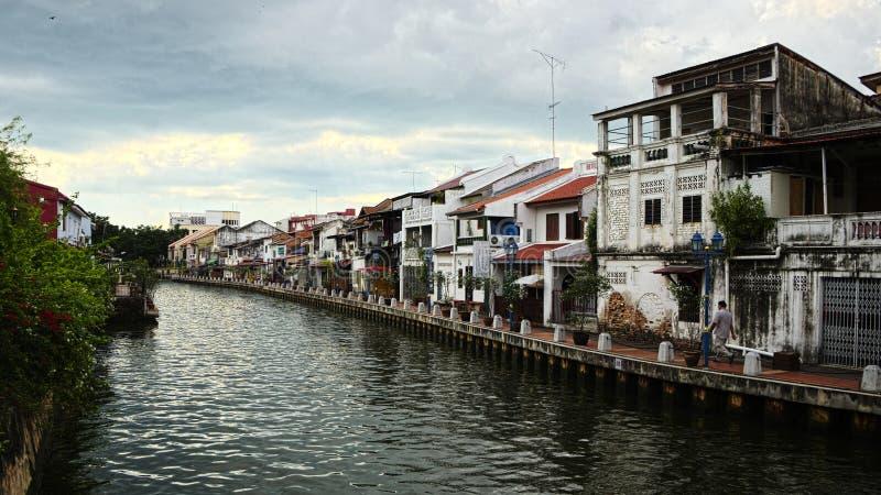 Rivière de Melaka photos stock