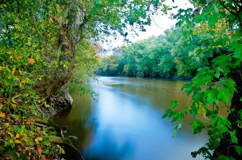 Rivière de Monocacy, Frederick County, le Maryland images libres de droits