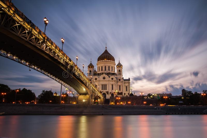Rivière de Moskva, Moscou image stock