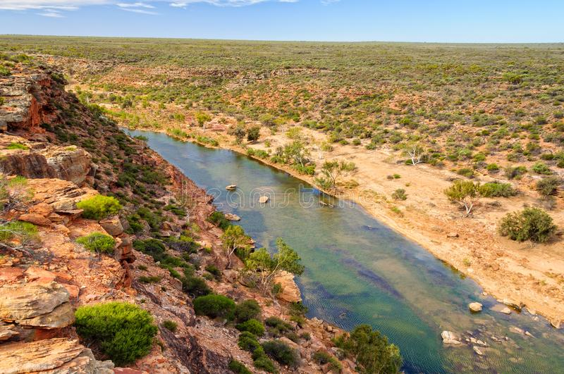 Rivière de Murchison - Kalbarri photo stock