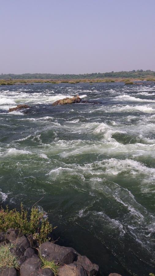 Rivière de Narmda images stock