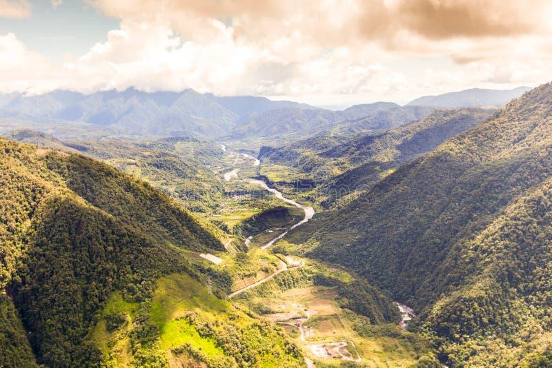 Rivière de Pastaza dans les Andes Equateur photo stock