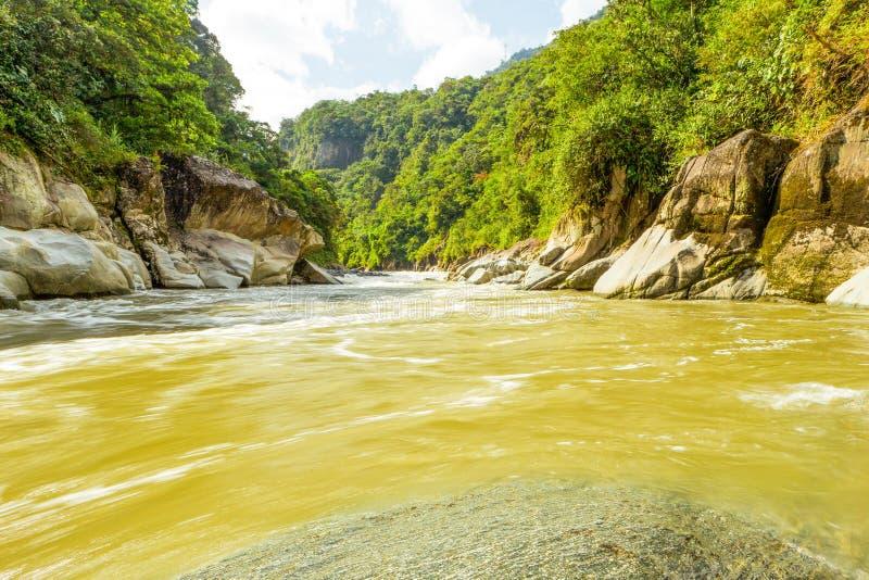 Rivière de Pastaza en Equateur photos libres de droits
