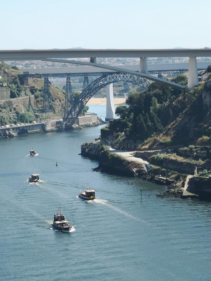 Rivière de pont de Porto photographie stock