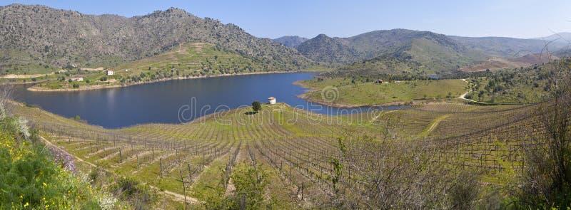 Rivière de Sabor en vallée de Douro photos libres de droits