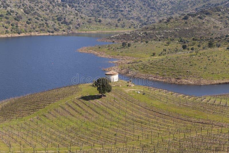 Rivière de Sabor en vallée de Douro photographie stock