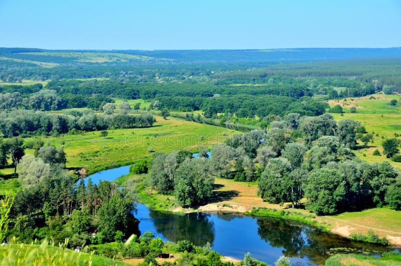 Rivière de Seversky Donets en Ukraine photo stock