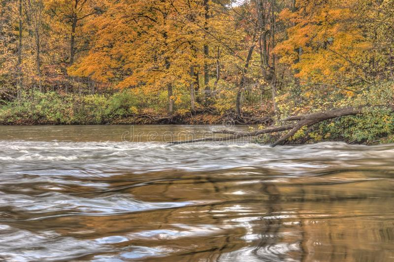 Rivière de Thornapple en Alaska, Michigan photo stock