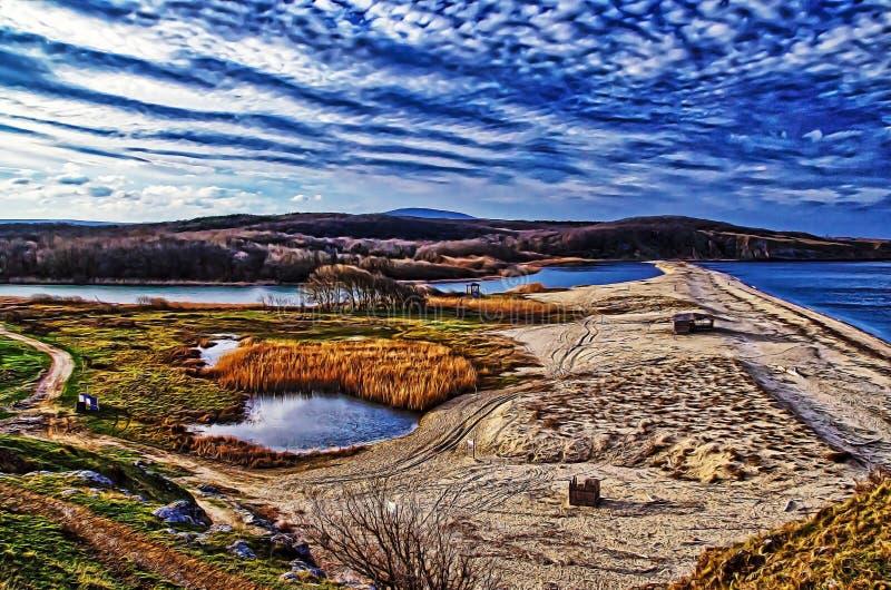 Rivière de Veleka - Sinemorets, Bulgarie image stock