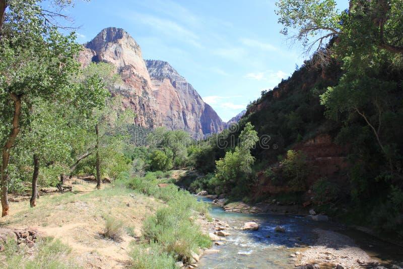 Rivière de Vierge, Zion National Park image stock