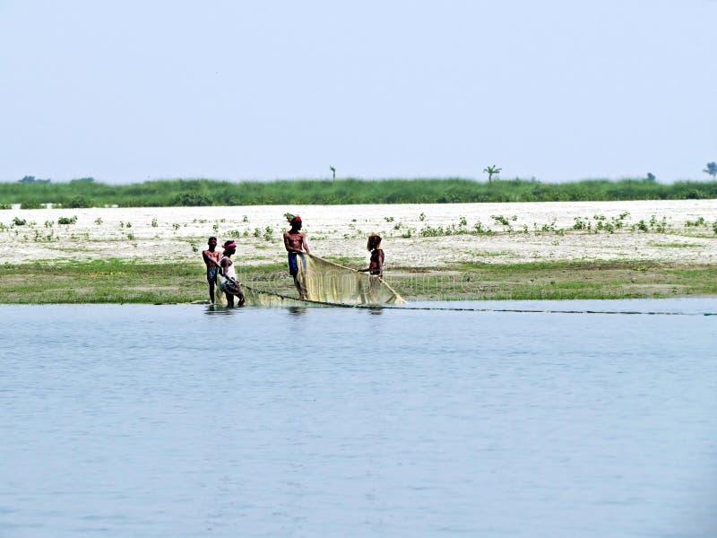 Rivière de Yamuna, le fleuve Brahmapoutre, Bogra, Bangladesh photo libre de droits