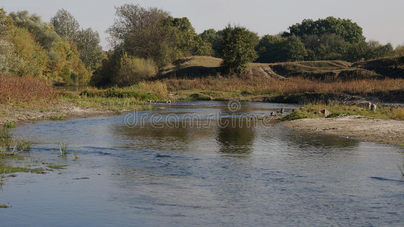 Rivière Dnipro de l'Ukraine Dniepr d'été photo stock