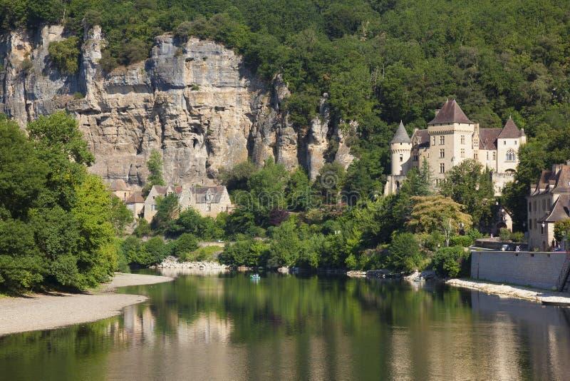 Rivière Dordogne en La Roque-Gageac image libre de droits