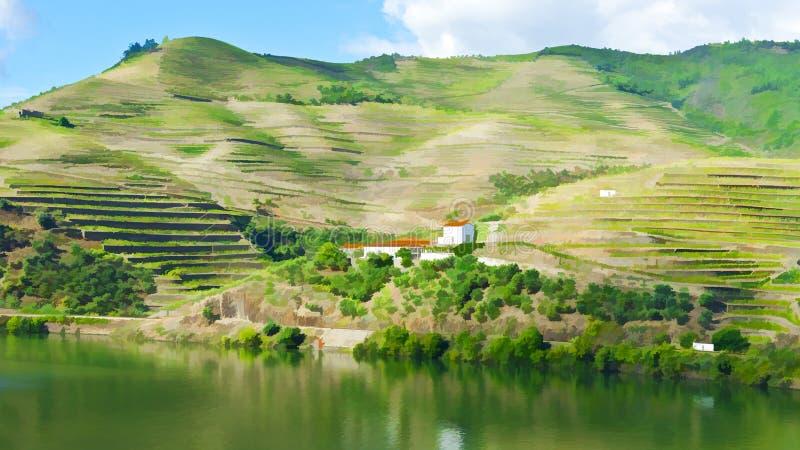 Rivière Douro au Portugal illustration libre de droits