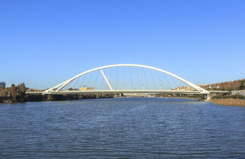 Rivière du Guadalquivir chez Séville, Espagne photographie stock