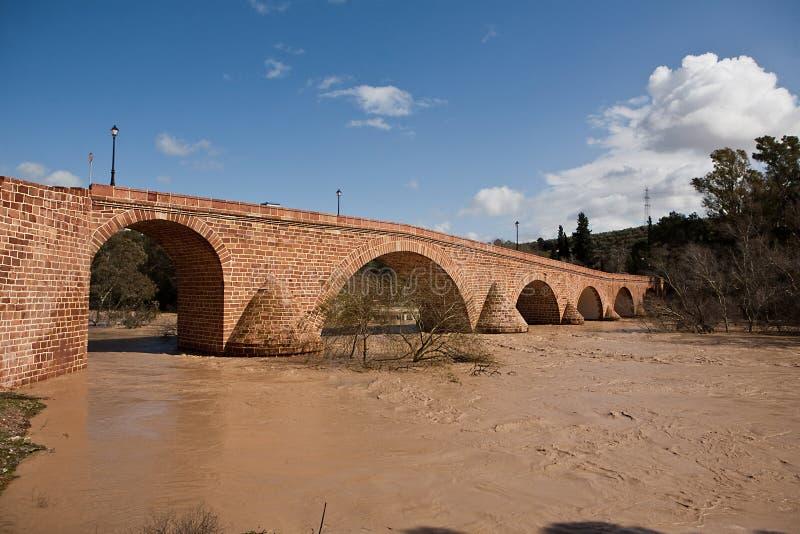 Rivière du Guadalquivir passant par Andujar photographie stock libre de droits