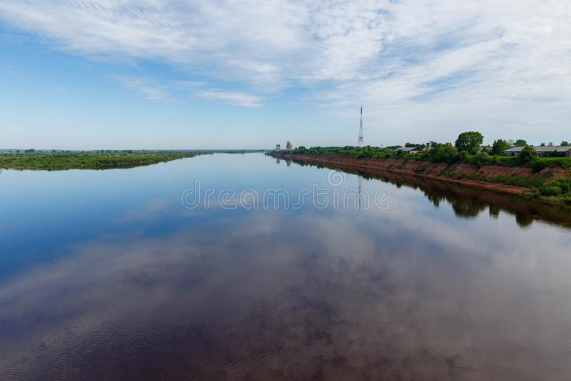 Rivière du nord de Dvina photos stock
