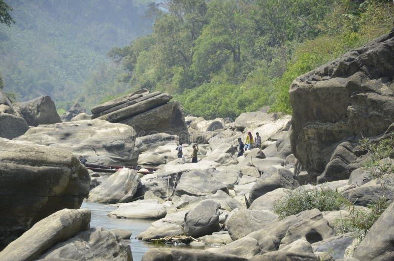 Rivière en pierre image libre de droits