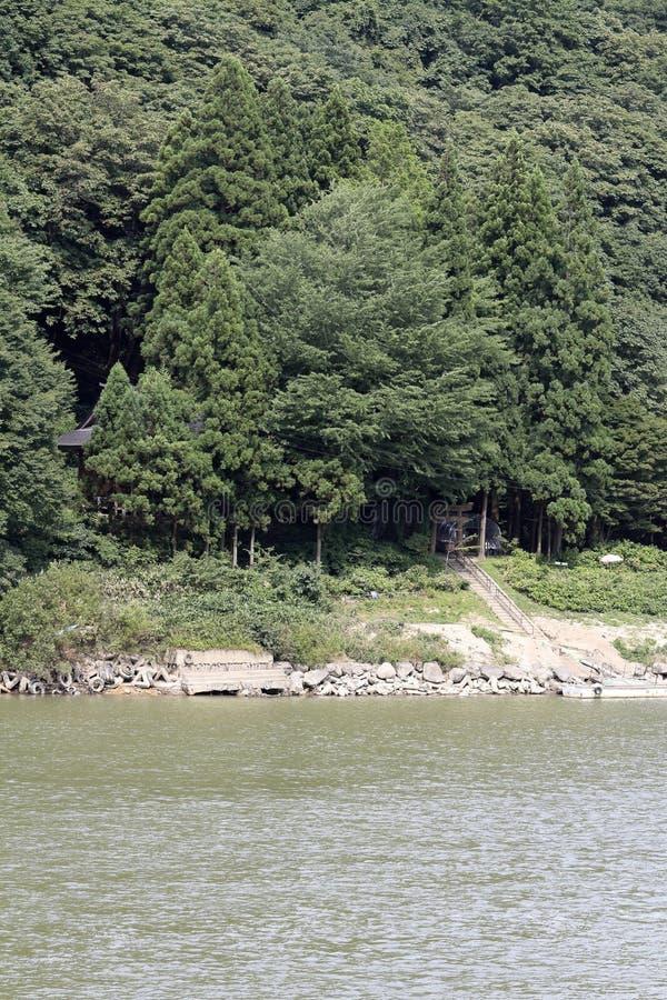 Rivière et Sennindo de Mogami images stock
