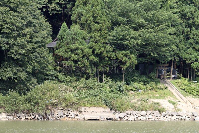 Rivière et Sennindo de Mogami photographie stock libre de droits