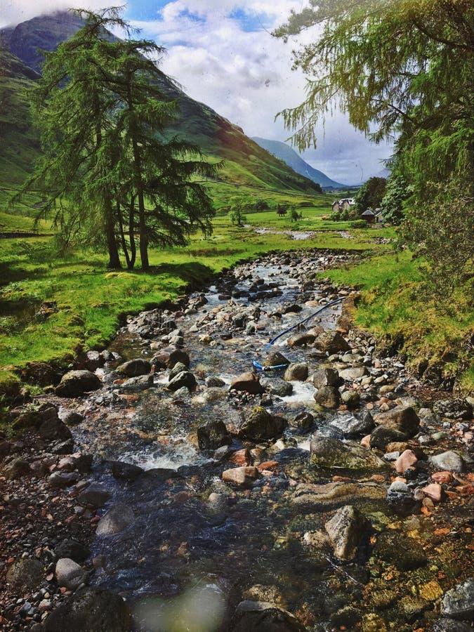 Rivière Etive près de Glencoe photographie stock libre de droits
