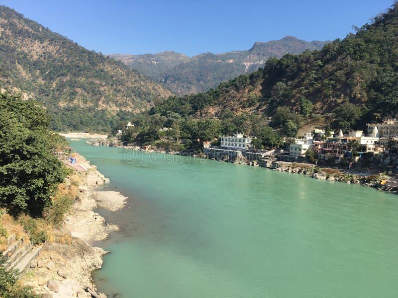 Rivière Ganga Rishikesh photos libres de droits