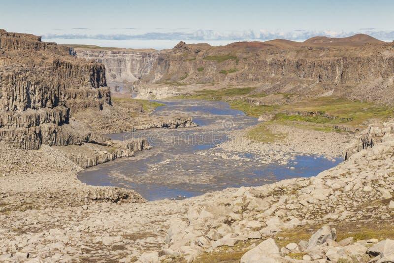 Rivière Jokulsa un canyon de Fjollum - Islande. photographie stock