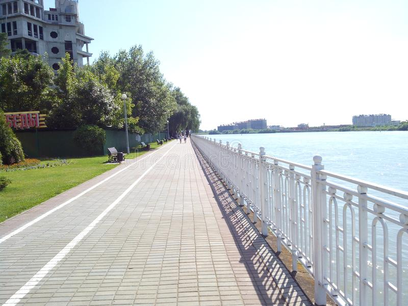 Rivière Kuban de côte images stock
