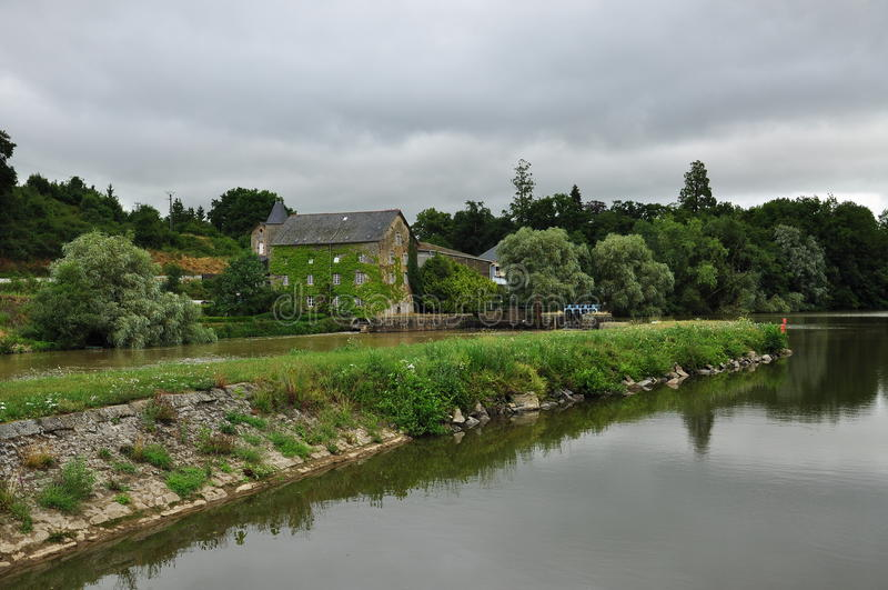 Rivière la Mayenne, France image stock
