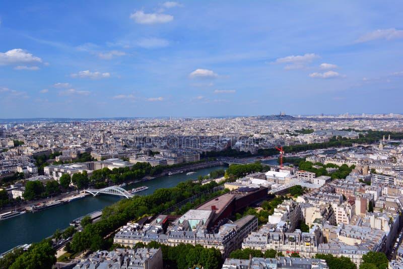 Rivière la Seine en été, Paris, France photographie stock