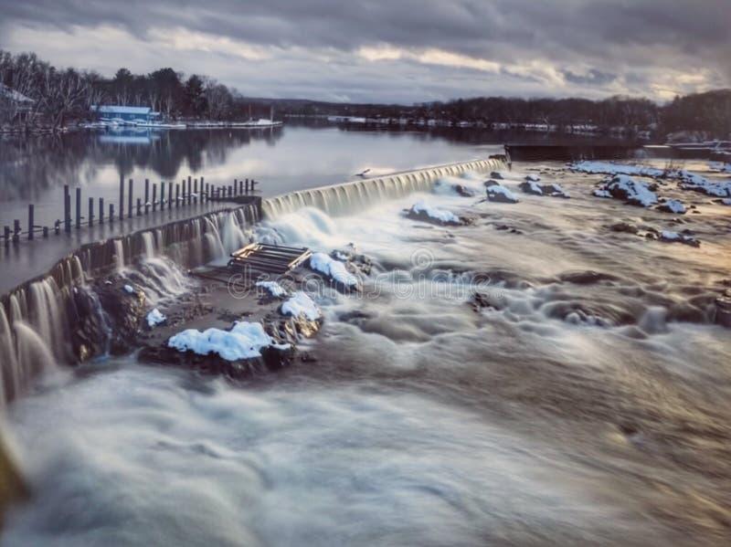 Rivière Lowell Ma de Merrimack images stock
