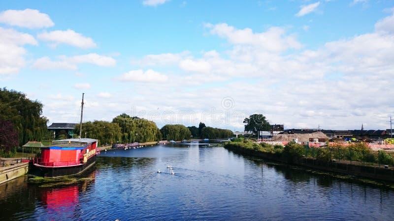 Rivière Nene de Peterborough images libres de droits
