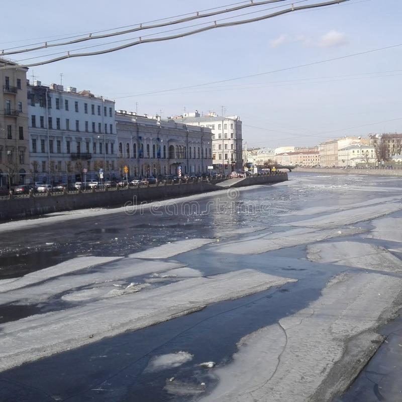 Rivière Newa à St Petersburg photo stock