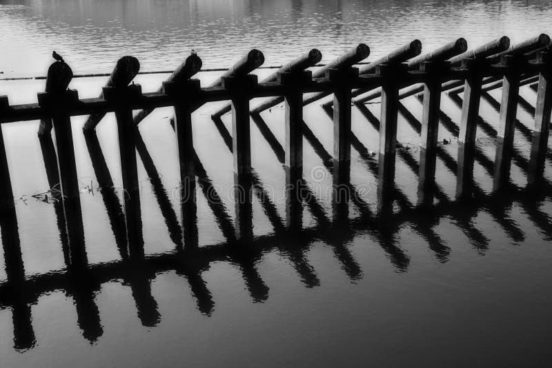 Rivière noire et blanche photographie stock libre de droits