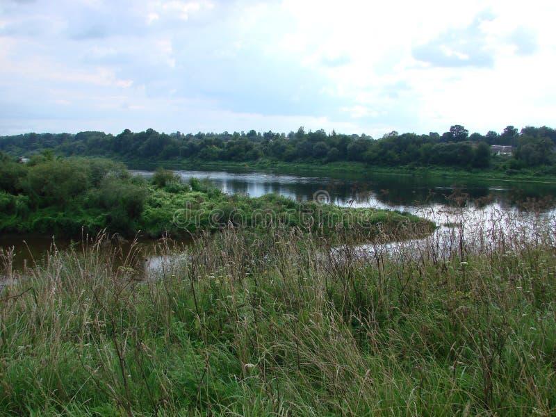 Rivière occidentale de Dvina au Belarus image libre de droits