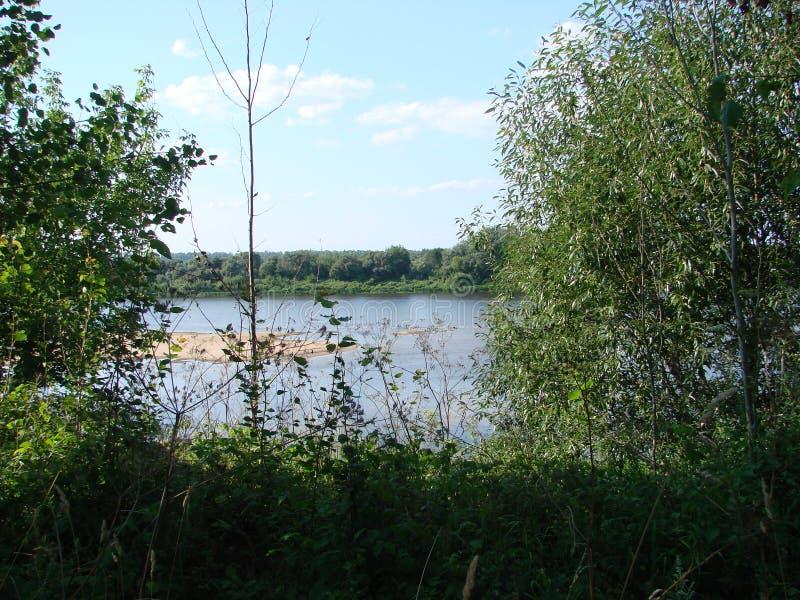Rivière occidentale de Dvina au Belarus images stock