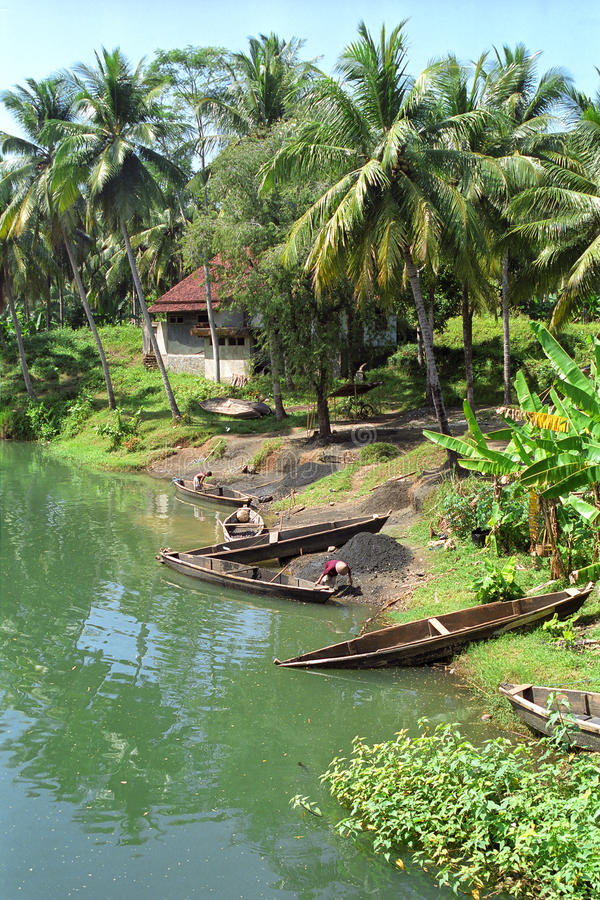 Rivière Pangandaran, Indonésie photographie stock libre de droits