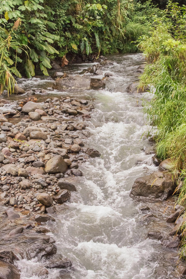 Rivière Piedras Negras en La Fortuna El Castillo en Costa Rica images stock