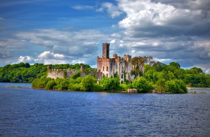 Rivière principale Shannon de Roscommon de château de lac images libres de droits