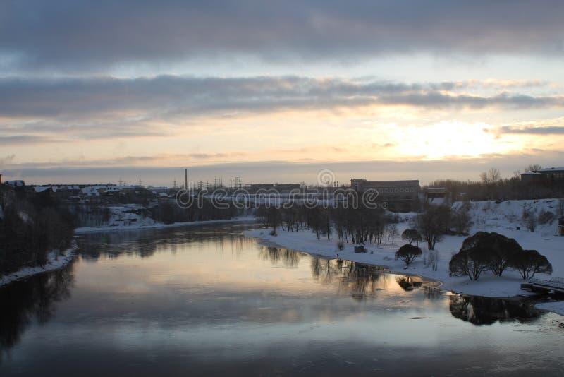 Rivière Pskova images libres de droits