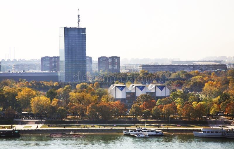 Rivière Sava à Belgrade serbia photo stock