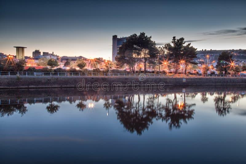 Rivière Tawe Swansea photos stock