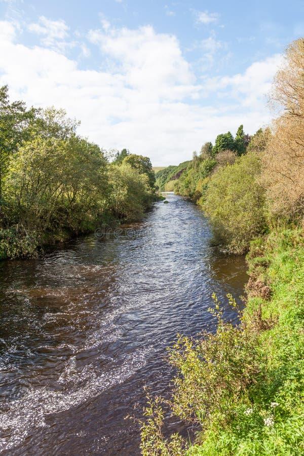 Rivière Whiteder en Écosse photos stock