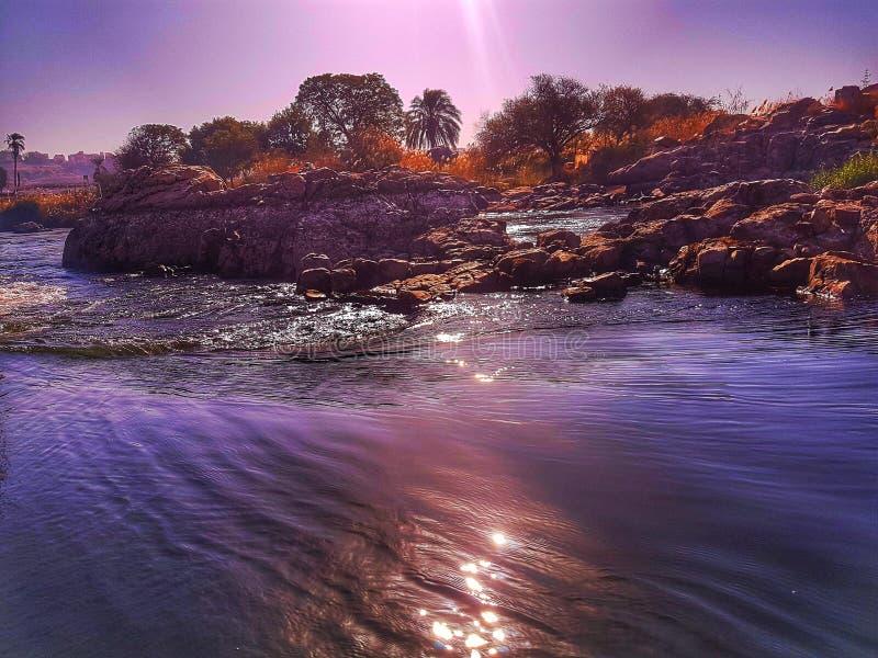Rivières d'Assouan photographie stock