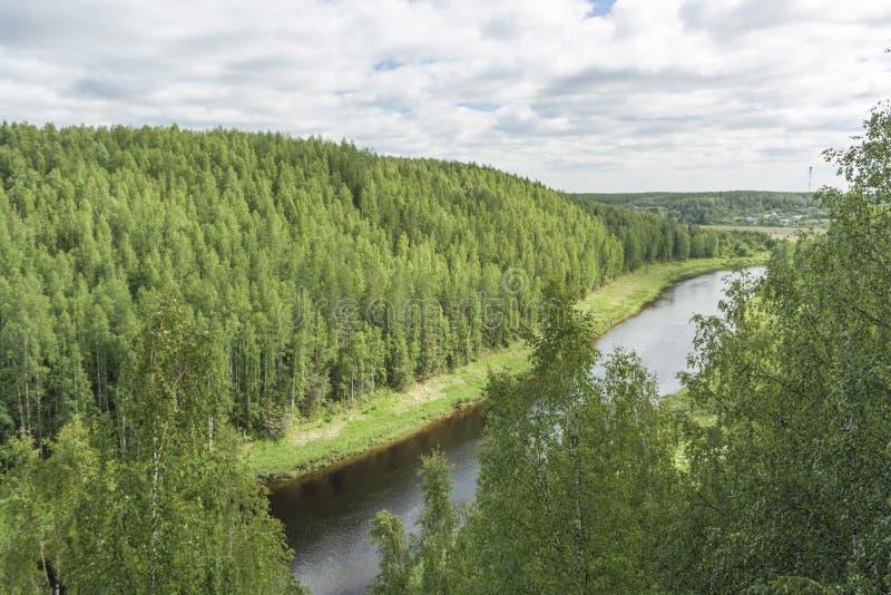 Rivier stock afbeelding
