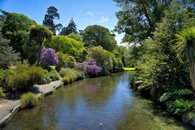 Rivier Avon Christchurch stock fotografie