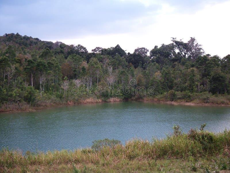 Rivier binnen het Nationale Park van Khao Yai royalty-vrije stock foto